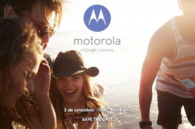 Motorola convida jornalistas à evento no dia 3 de Setembro (Divulgação/ Motorola)