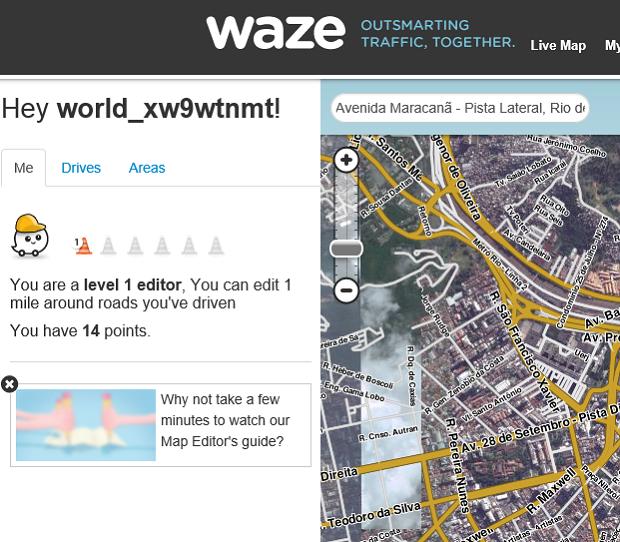 Edição é realizada no editor de mapas na Internet (Foto: Reprodução Thiago Barros)