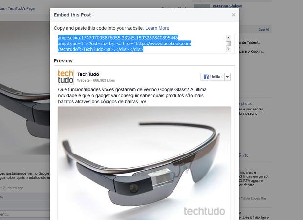 google glass embed (Foto: Reprodução)