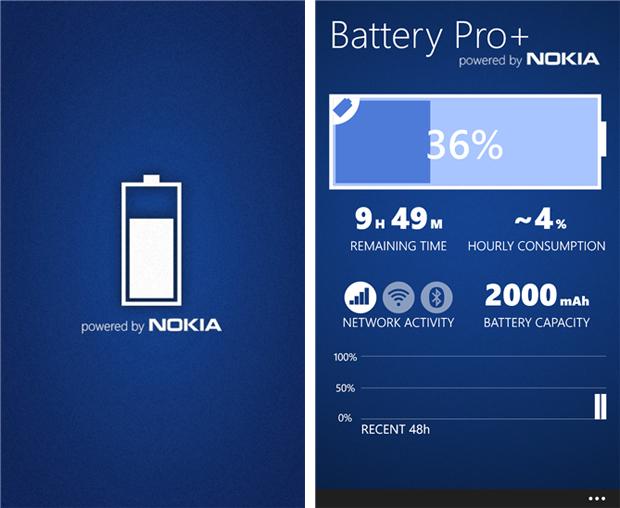 Battery Pro+ traz gráficos e indica o nível de consumo da bateria do Windows Phone (Foto: Divulgação)