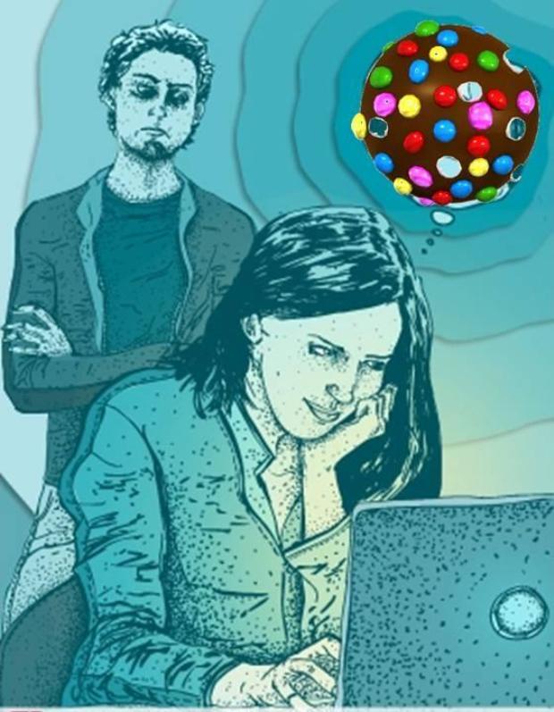 A página ilustra o nível de vício dos jogadores (Foto: Reprodução/ Candy Crush da Depressão)