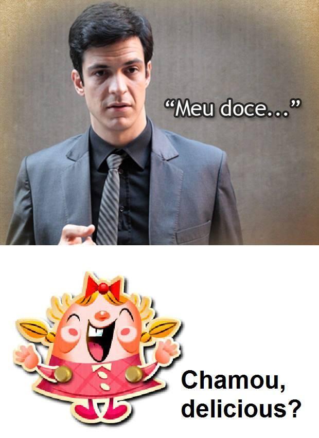 A página brinca colocando o personagem Félix como um viciado no jogo (Foto: Reprodução/Candy Crush da Depressão)