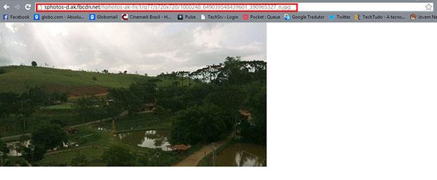 A URL original da imagem permanece intacta (Foto: Reprodução / Paulo Alves)