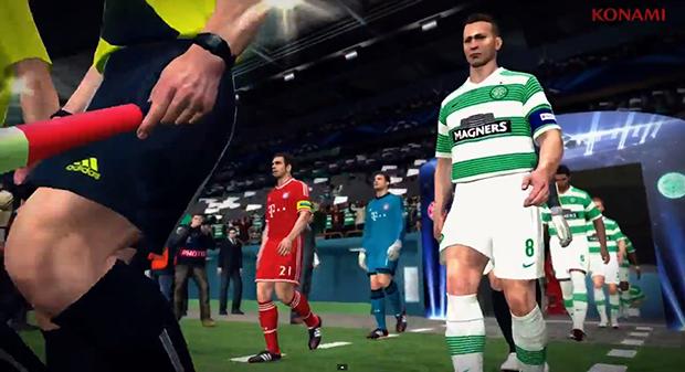 Novo trailer de PES 2014 destaca campanha do Celtic na Champions League (Foto: Reprodução/Murilo Molina)