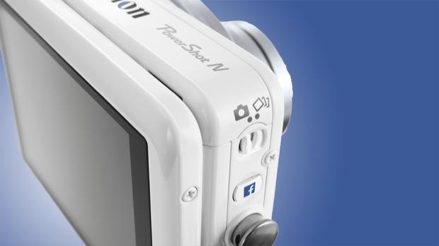 Botão Facebook da Canon PowerShot N (Foto: Divulgação)