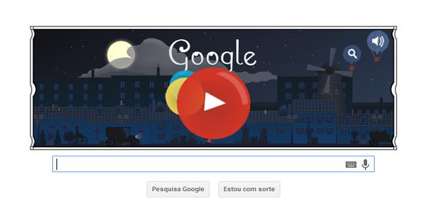 Doodle do Google sobre Claude-Achille Debussy (Foto:Reprodução/Google)