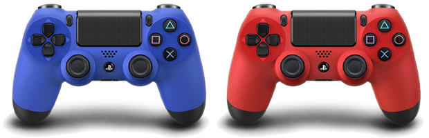 DualShock 4 em modelos Wave Blue e Magma Red (Foto: We see in Pixels)