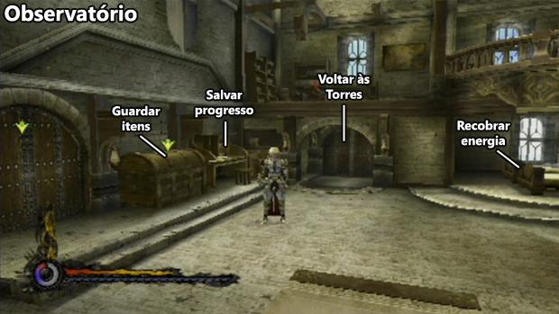 """O Observatório funciona como o """"hub"""" do jogo (Foto: Reprodução / Rafael Monteiro)"""