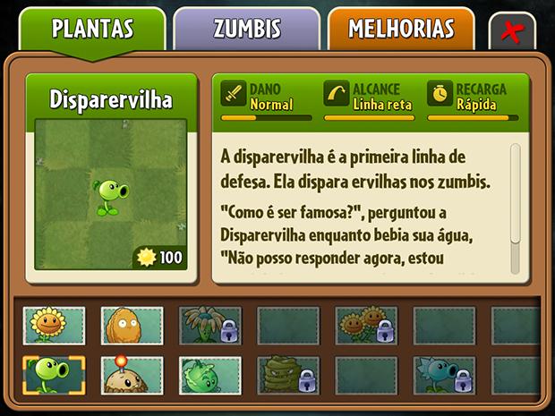 O almanaque contém informações valiosas sobre suas plantas e os zumbis adversários (Foto: Reprodução/Murilo Molina)