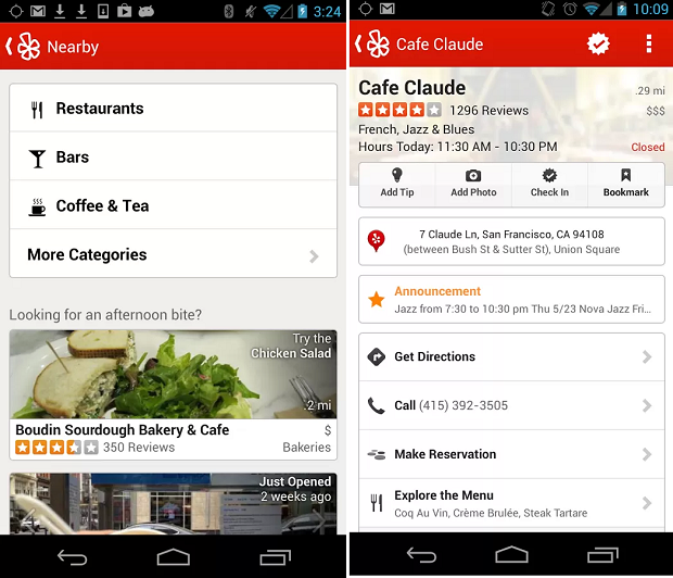 Yelp é um aplicativo para achar restaurantes, bares, shoppings e afins (Foto: Divulgação)