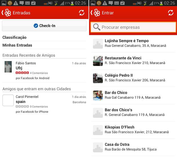 Fazer check-in no Yelp é uma tarefa prática (Foto: Reprodução/Thiago Barros)