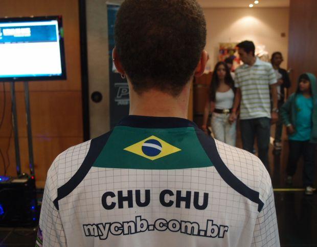Eric ganhou o apelido de Chu Chu nos torneios de Street Fighter IV (Foto: Pedro Zambarda/TechTudo)