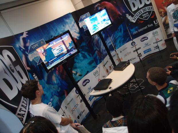 Chu Chu disputando seu quarto torneio de Street Fighter (Foto: Pedro Zambarda/TechTudo)