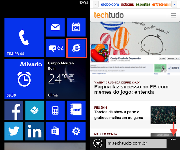 Abra o Internet Explorer (Foto: Reprodução/Helito Bijora)