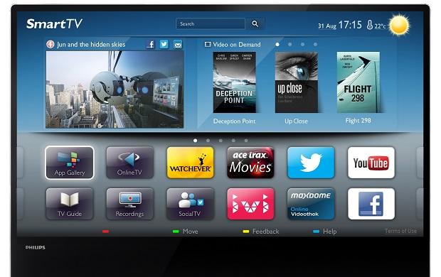 Philips DesignLine também é SmartTV, e aplicativos podem ser usados para agregar funcionalidades (Foto: Divulgação)