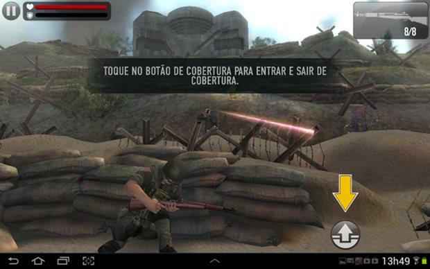 Jogo de tiro para Android que se passa na Segunda Guerra Mundial (Foto: Divulgação)