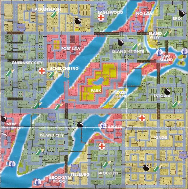O mapa original de Liberty City (Foto: Divulgação)