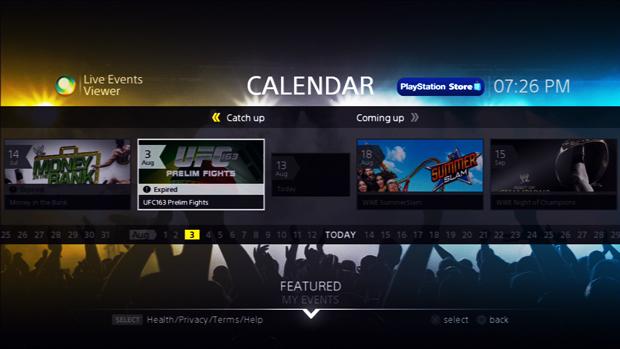 O calendário apresenta os eventos em ordem cronológica. (Foto: Reprodução)