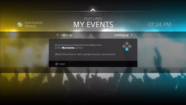 Eventos comprados são catalogados na parte inferior do display. (Foto: Reprodução)