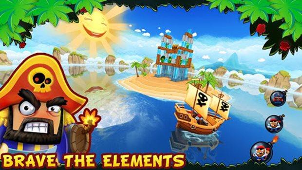 Potshot Pirates é um clone de Angry Birds na terceira dimensão (Foto: Divulgação)