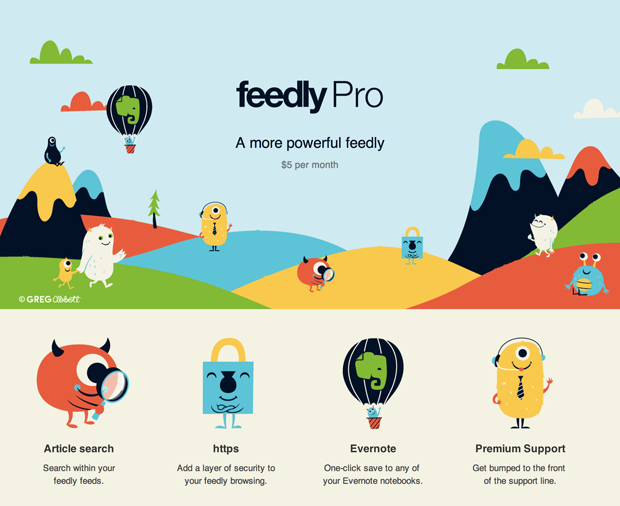 Versão Pro do Feedly introduz recursos como busca e suporte ao Evernote (foto: Divulgação)