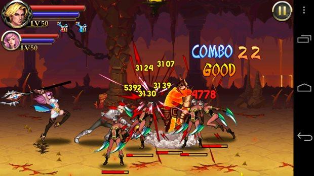 Sword of Inferno tem comandos fáceis e permite comandar vários personagens (Foto: Reprodução / Dario Coutinho)