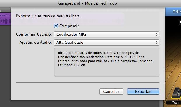 Escolha o codec MP3 (Foto: Reprodução/João Paulo Carrara) (Foto: Escolha o codec MP3 (Foto: Reprodução/João Paulo Carrara))