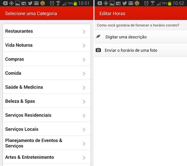 É possível categorizar o local e também informar horário de funcionamento (Foto: Reprodução/Thiago Barros)