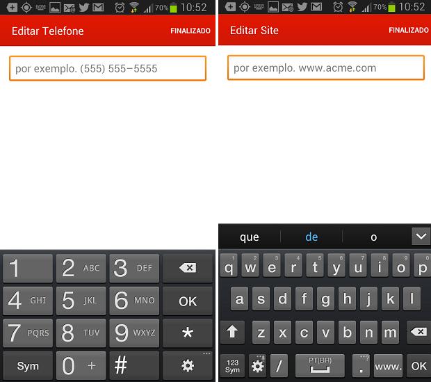 Adicione telefone e site para facilitar o contato (Foto: Reprodução/Thiago Barros)