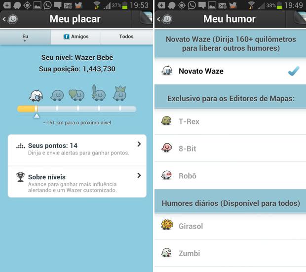 Waze tem interessante sistema de pontos para o usuário (Foto: Reprodução/Thiago Barros)