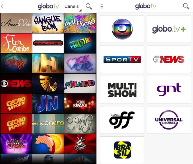 App oferece programação extensa no Android (Foto: Divulgação)