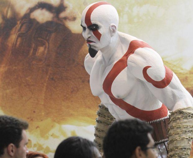 Kratos, de God of War: A feira se chamava Rio Game Show em 2009, antes de ser rebatizada para Brasil Game Show (Foto:Divulgação/BGS)