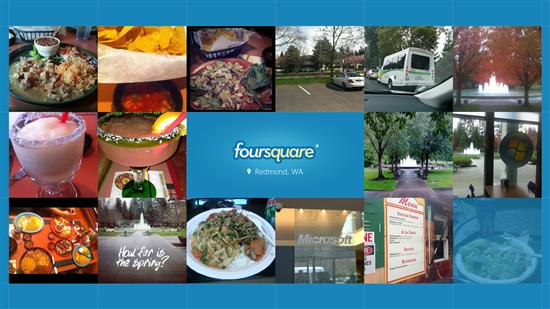 O Foursquare está disponível para Windows 8 (Foto: Divulgação)