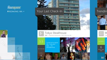O último check-in do usuário aparece no início do app (Fotos: Divulgação) (Foto: O último check-in do usuário aparece no início do app (Fotos: Divulgação))