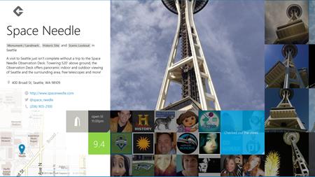 No app para Windows 8 é possível acessar dados sobre os locais (Fotos: Divulgação) (Foto: No app para Windows 8 é possível acessar dados sobre os locais (Fotos: Divulgação))