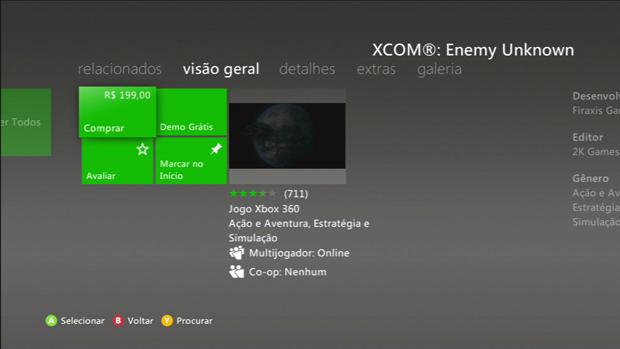 Por R$199,00, XCOM ENEMY Unknown é um dos jogos mais caros da Live. (Foto: Reprodução)