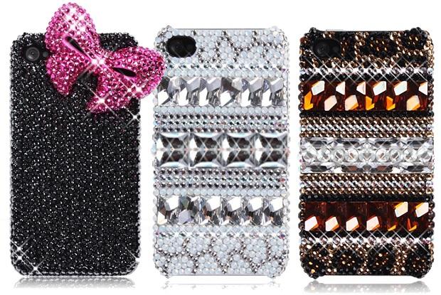 Modelos Cute Bowknot Bling Crystal (à esquerda) e Retro Bohemian Series Sparkling Crystal (à direita) (Foto: Divulgação/iowcase)