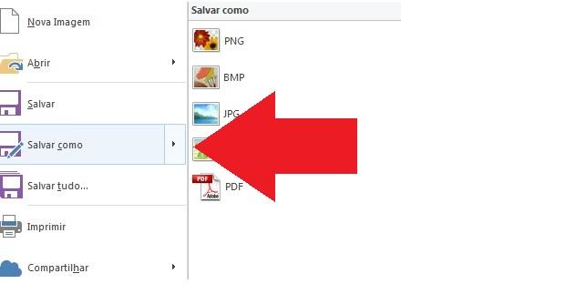 Salvando o screenshot (Foto: Reprodução)