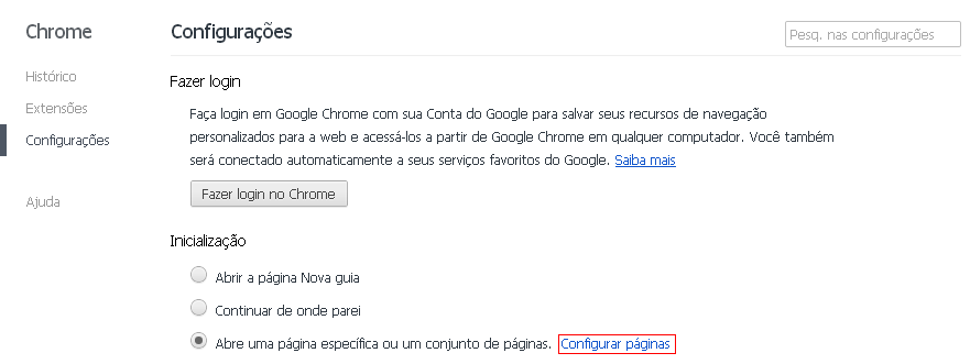 é e como remover qv06 da página inicial do Chrome e do computador