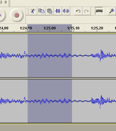 audacity selecionar ruido