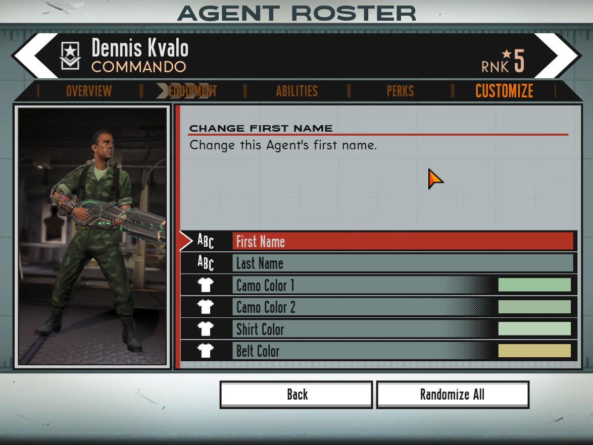 O jogador pode personalizar a aparência e as cores do uniforme de todos os agentes de sua equipe (Foto: Reprodução/Daniel Ribeiro)