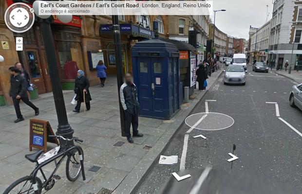 Encontre a TARDIS no Street View (Foto: Reprodução)