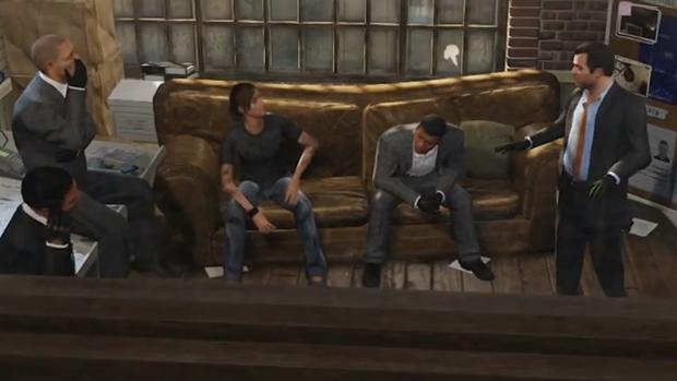 Michael planeja um assalto em GTA 5 (Foto: Reprodução)