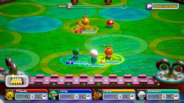 Monstrinhos de plástico batalham nas arenas de Pokémon Rumble U (Foto: Divulgação)