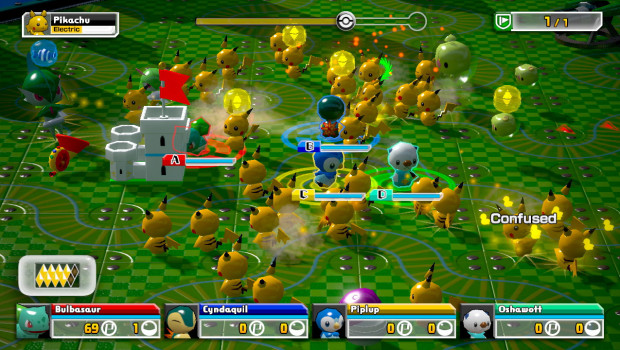 O avanço torna Pokémon Rumble U mais complicado, mas não menos divertido (Foto: Divulgação)