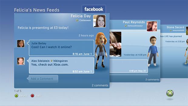 Facebook para Xbox (Foto: Reprodução)