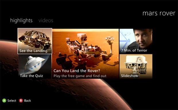 Pouso da Curiosity foi transmitido ao vivo pelo Xbox 360 (Foto: João Paulo Carrara)