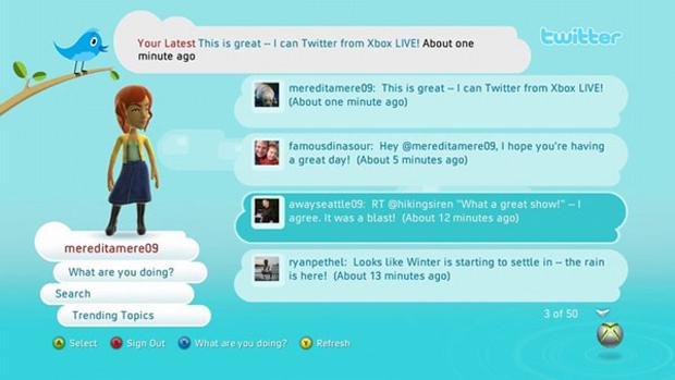 Twitter para Xbox (Foto: Reprodução)