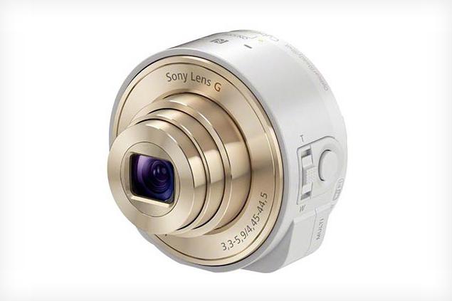 Sony QX Lens em versão branca e dourada (Foto: Reprodução/The Verge)