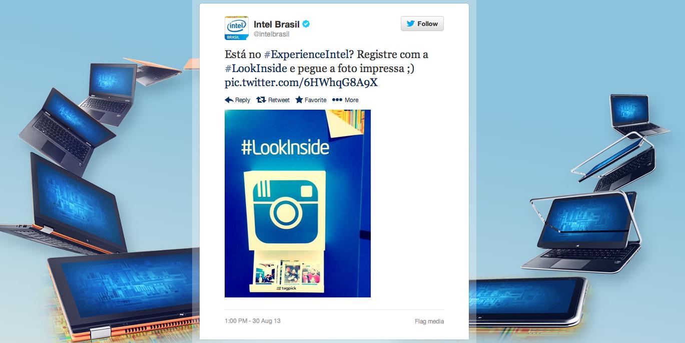 Experience Intel. Look Inside acontece nesse fim de semana no Morumbi Shopping em São Paulo (Foto: Reprodução/Twitter)